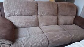 Recliner 3 seater sofa MUST GO THIS WEEK