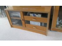 Light wood coffe table,TV unit, sideboard and display unit