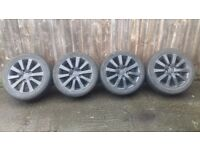 honda civic sport 16 inch alloy wheels in black with tyres