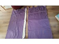 Next purple plain curtains