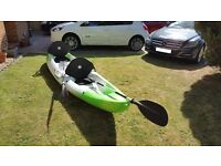 Tandem Sit-on top Kayak with seats and paddles