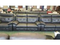 Ashley dark brown scs 2.5 x 2 seater reclining sofa + single chair