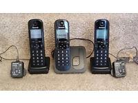 Panasonic KX-TGCS210E Triple handset phones.
