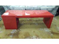 Modern Red High Gloss Coffee Table