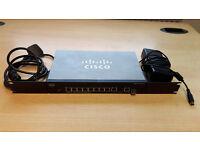 Cisco SF302-08P with Cisco MFEFX1 100 Base-FX Mini-GBIC SFP transciever