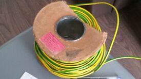 BaseC RR Kabel Yellow and Green 450/750v (on drum - about 5-10m in length)