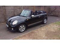 Mini 1.6D convertible Black, low mileage, 6 speed, £20 road tax, new MOT on sale,