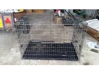 Large dog cage - can split into 2 sections
