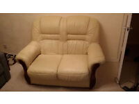 Leather sofa, settee, very good condition