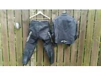 2 piece leather motorbike suit