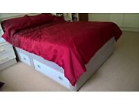 REDUCED - Double Divan Style Bed with Drawers and Mattress for sale - Collection Only