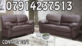 3&2 or Corner Leather Sofa Range Cash On Delivery 75