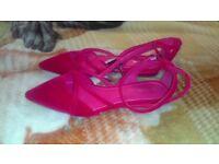 New Women Fuchsia pink Sandals UK size 5 and 6.5