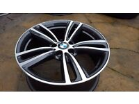 "FRONT GENUINE BMW 3 4 SERIES F30 F31 F32 F33 19"" STYLE 442M ORBIT GREY ALLOY WHEEL 7852493"