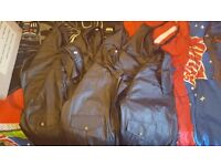 New Leather bomber jackets. Joblot x7 assorted sizes.