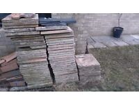 55 patio slabs 45 x 45 cm each slab. Free to person who collects