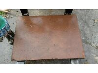 Traditional large red sandstone slabs/stones.