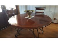 Dining table & 4 carver chairs & units