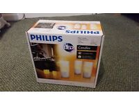 Philips Imageo Rechargeable LED Candle Lights - White, Set of 3