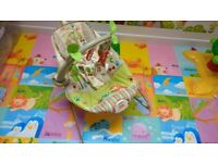 Fisher price forest baby bouncer chair, battery included
