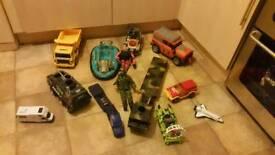 Bundle of boys toys cars action men etc
