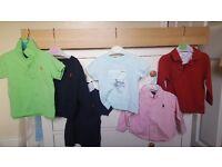 Designer boys clothes. Hugo boss and ralph lauren, t shirts, shirt and jumper