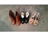 JOB LOT – BOOTS / MULES / SANDALS 3 PAIRS ALL SIZE 5