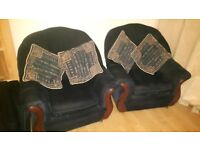 two armchair with cusions