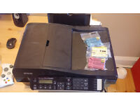 Wireless printer - Print/Copy/Scan/Fax multifunction - Epson BX320FW + spare cartridges