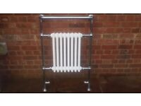 Traditional towel radiator with valves. Excellent condition .