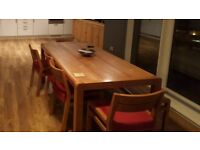 table 5 chairs bench solid wood