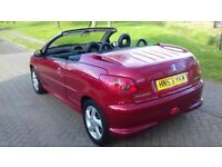 PEUGEOT 206 ALLURE CONVERTIBLE. SERVICE HISTORY. 1 PREVIOUS OWNER FROM NEW. FULL LEATHER INTERIOR.