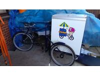 pashley classis no.33 ice cream tricycle with 12v freezer ready for business