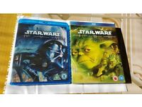 STAR WARS 1-6 PACKS-BLU-RAY- NEW / VERY GOOD CONDITION