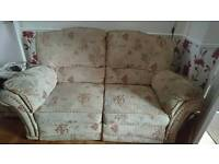Two 2 seater sofas one reclining one not, also electric reclining chair. Collection only