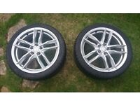 """Pair Of Seat Leon FR 17"""" Alloys with Tyres"""