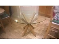 a beautiful glass and real wood kitchen table. was £700 new and you will see why