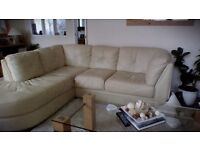 Leather sofa for sale or swap