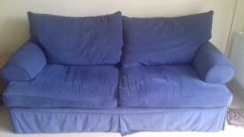 Blue 3 seater sofa - free to a good home