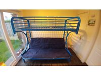 Weixin Blue Metal Frame Bunk Bed/Futon
