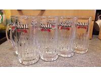 SKOL Original Half Pint Glasses 1970's