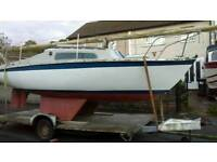 Hurley 20 ft sailing yacht