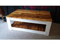 Handmade Rustic Farmhouse Country Style Shabby Chic Coffee Table