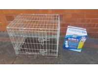 Dog cage and puppy training pads
