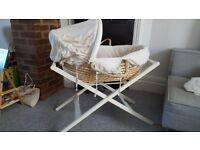 Mamas papas moses basket with stand