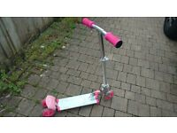 Pink flashing scooter