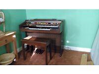 Yamaha Electone C-55 organ with stool