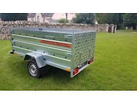 NEW Car trailer 7.7 x 4.1 double broadside with ramp