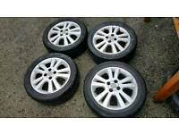 Vauxhall alloy wheels with good tyres 205/50ZR/16