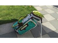 Full set of quality golf clubs with stand bag